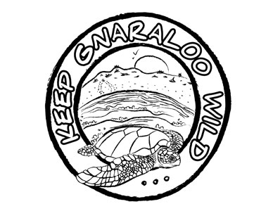 Gnaraloo sea turtle colouring page