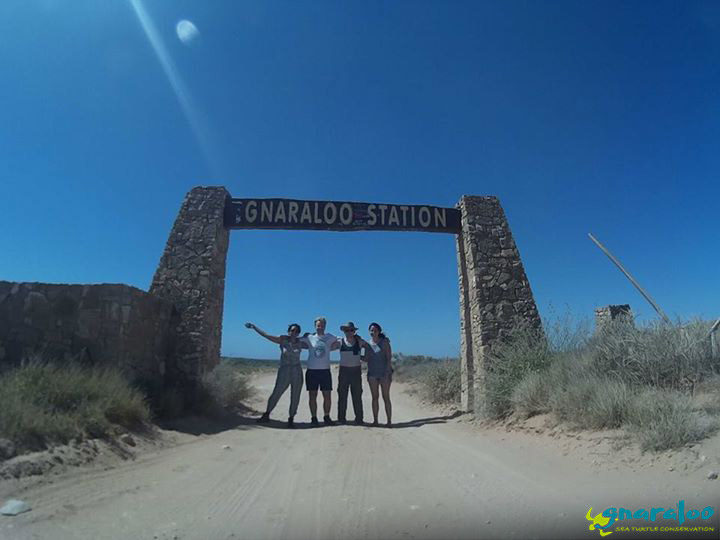 Interns At The Gnaraloo Station Arch