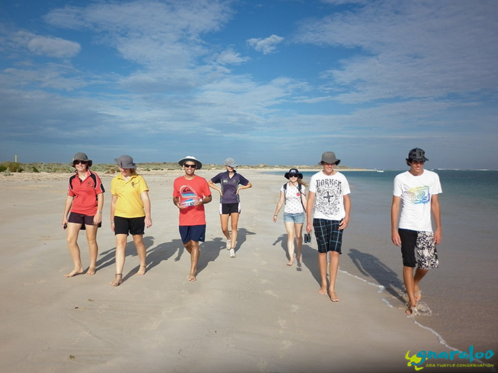 Field excursion for schools at the Gnaraloo Bay sea turtle rookery