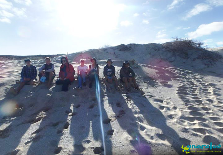 Nagle Catholic College Students In Front Of A Loggerhead Nest