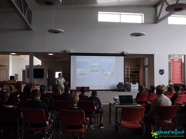 Educational presentation about sea turtles in Western Australia