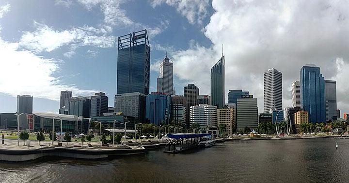 Perth cityscape from Elizabeth Quay