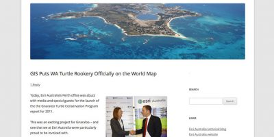 GIS Puts WA Turtle Rookery Officially on the World Map