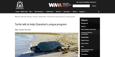Turtle talk to help Gnaraloo's unique program