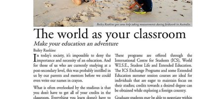 The world as your classroom
