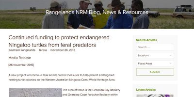 Continued funding to protect endangered Ningaloo turtles from feral predators