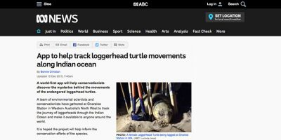 App to help track loggerhead turtle movements along Indian ocean