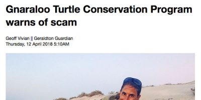 Gnaraloo Turtle Conservation Program warns of scam