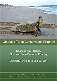 Gnaraloo Bay and Gnaraloo Cape Farquhar Rookeries: Summary Report 2013/14