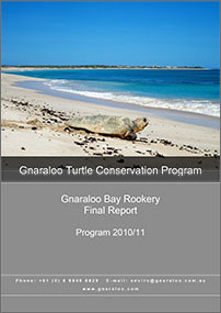 Gnaraloo Bay Rookery: Report 2010/11