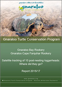 Gnaraloo Bay and Gnaraloo Cape Farquhar Rookeries: Satellite Tracking Report 2015/17