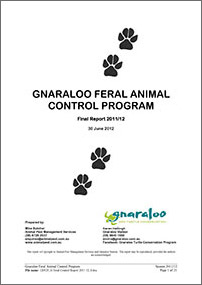 Gnaraloo Feral Animal Control Program – Report 2011/12