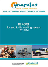 Gnaraloo Feral Animal Control Program – Report 2013/14