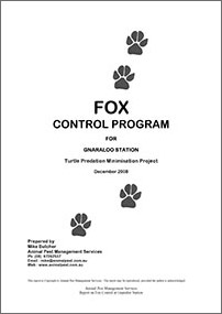 Gnaraloo Fox Control Program – Report December 2008
