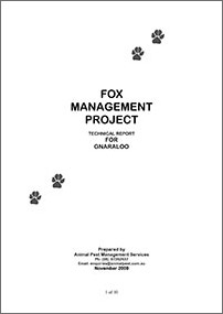 Gnaraloo Fox Control Program – Report November 2009